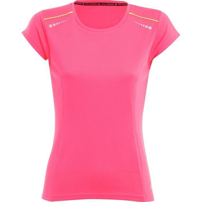 ATHLI-TECH T-shirt de running Abelia - Femme - Rose