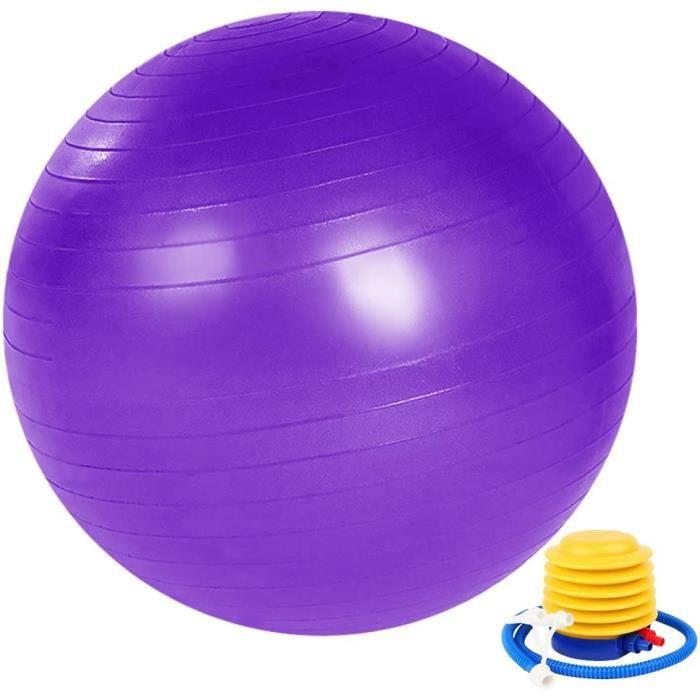 Ballon d'exercice de Yoga, Ballon de Gym Grossesse, Ballon de Fitness d'exercice, Pilates Ballon 55cm/65cm/75cm avec Pompe