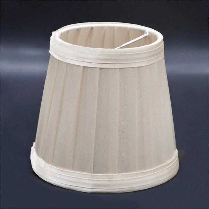 Vintage tissu plissé abat-jour table bureau lit abat-jour support lustre light 229