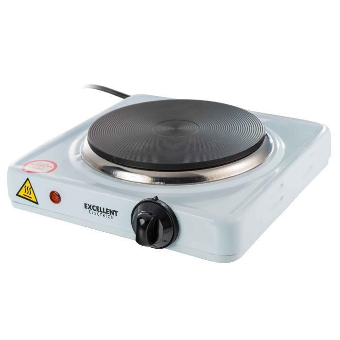 Plaque de cuisson 1 feu anti-adhesive. Corps emaille. Thermostat reglable. temoin lumineux de fonctionnement. Protectio