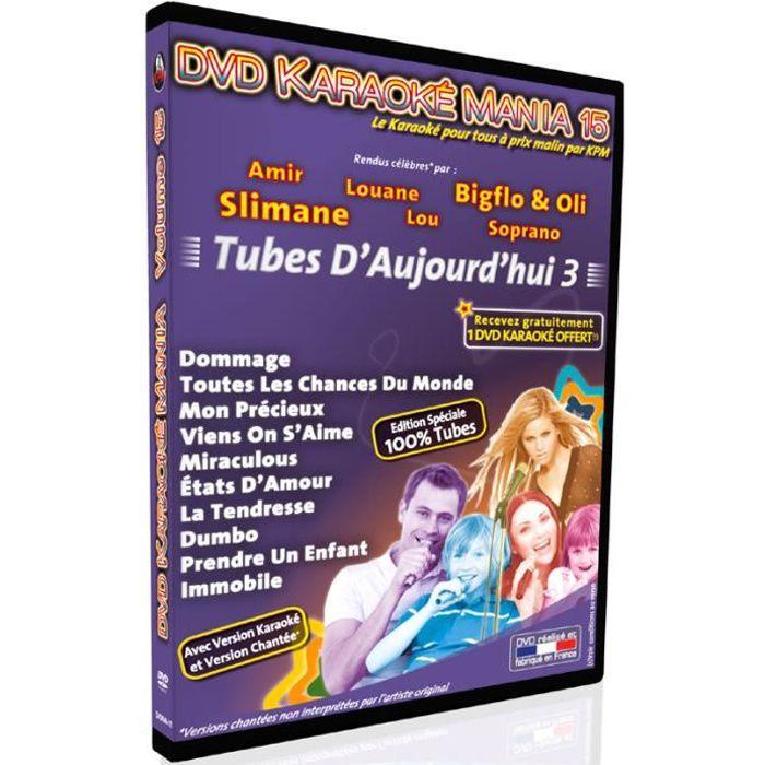 DVD Karaoké Mania Vol.15 -Tubes D'Aujourd'hui 3-