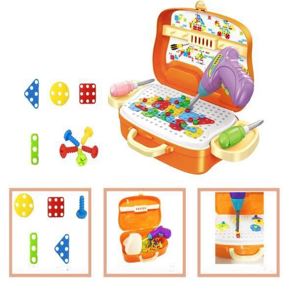 Jeu De Construction Mosaïque Jouet Assemblage Puzzle Blocs 133 Pcs Enfant Fille Garcon