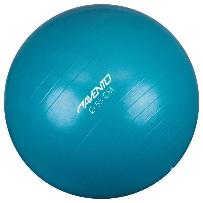 Avento Magnifique-Ballon de fitness-d'exercice Ballon de Gymnastique pour Fitness Exercice Yoga - Diamètre 55 cm Bleu♕8757
