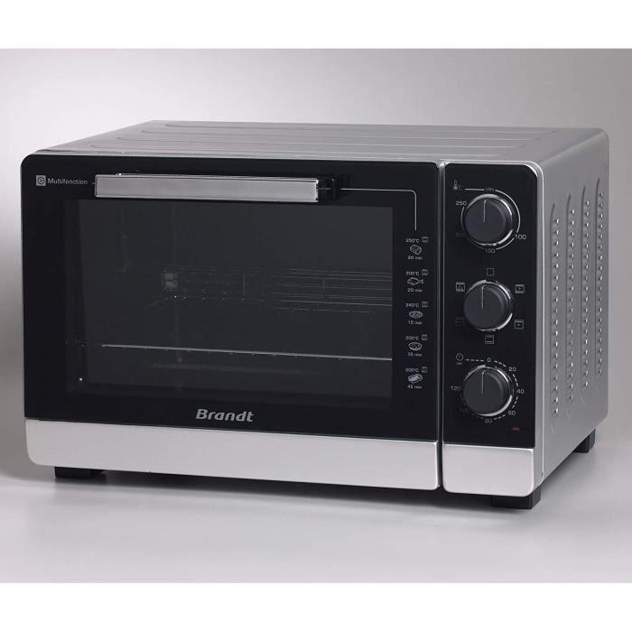 Brandt FC405MS - Mini Four Posable et Compact - 2100 W - Capacité 40L - Multifonction avec 5 Modes de Cuisson - Cuisson homogène - D