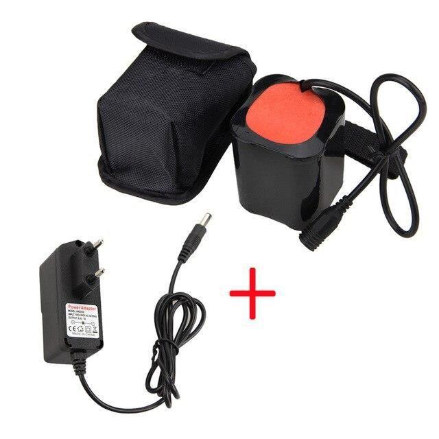 Batterie 20000mAh 8.4V, pour T6 LED, lampe frontale de vélo, chargeur inclus~With AU Charger*PY6964