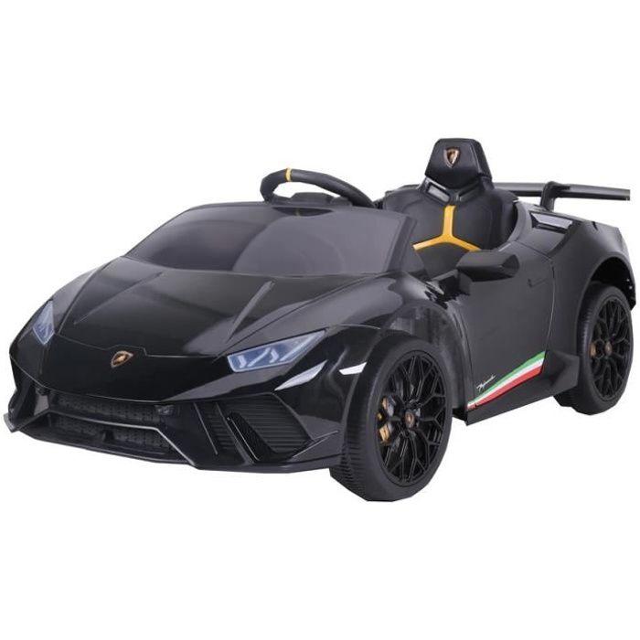 Lamborghini Huracán Noir Voiture Électrique Enfant Véhicule Bébé12V