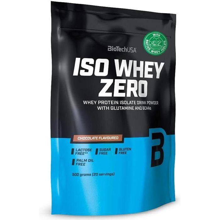 Biotech USA ISO WHEY ZERO - chocolat - 500g