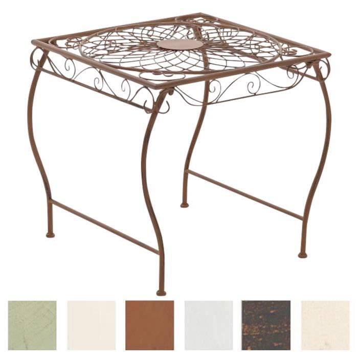 CLP Gracieuse Table de jardin en fer forgé ZARINA, Table de bistrot au style nostalgique, dimensions: 49 x 45, 6 couleurs au choi...