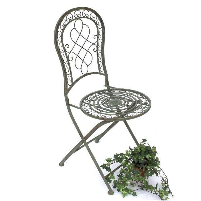 DanDiBo Chaise Chaise de jardin Malaga 12185 Chaise pliante 92cm en métal Fer forgé