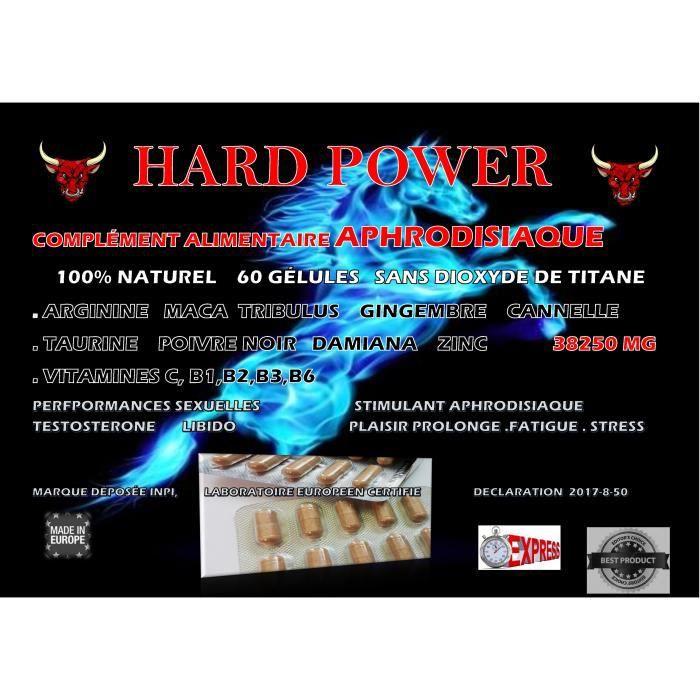 HARD POWER complément alimentaire pour hommes 60 gélules, 100 % naturel