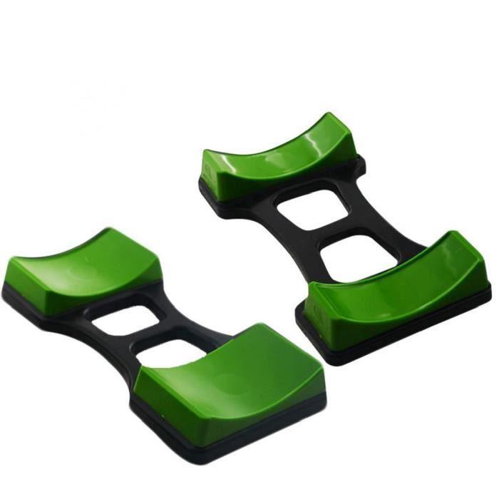 Dumbbell Rack Protection Plancher De Fitness Dumbbell de stockage pour l'équipement de levage de poids Home Gym Green 2pcs
