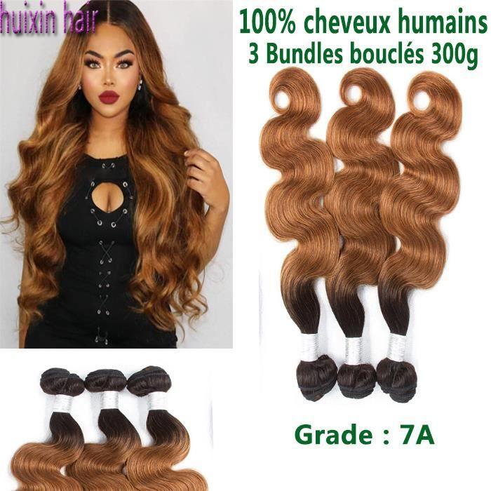 3 tissage Cheveux Brésiliens Bundles Body Wave 1B-30 bouclés 100% cheveux humains 24 26 26 Pouces