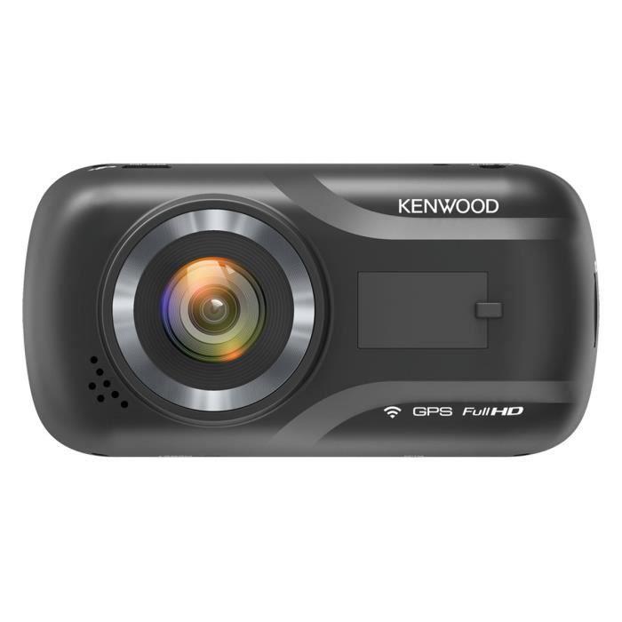 Kenwood DRV-A301W - Caméra embarquée Full HD (1920 x 1080p à 30fps), Wi-Fi, accéléromètre G-Sensor 3 axes et GPS intégré (