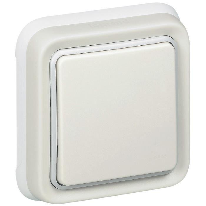 LEGRAND Interrupteur simple complet Plexo blanc