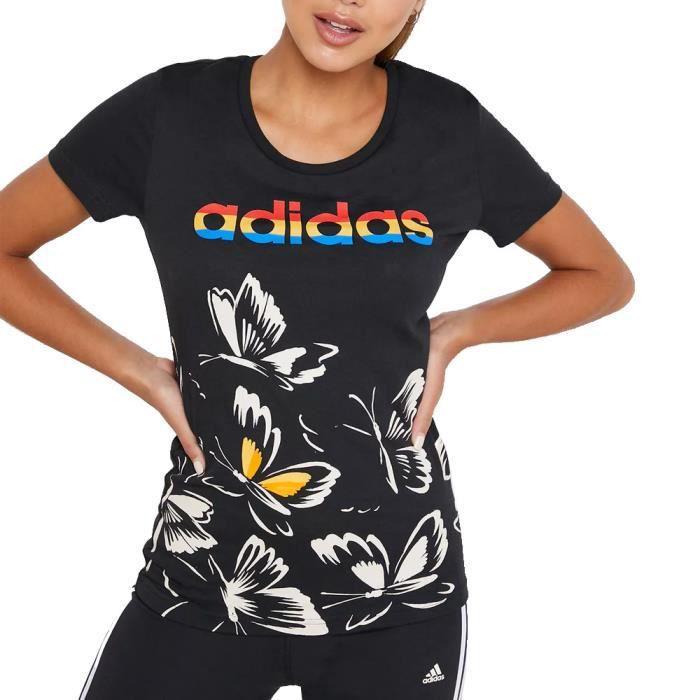 T-shirt Noir Femme Adidas FARM P TSHIRT