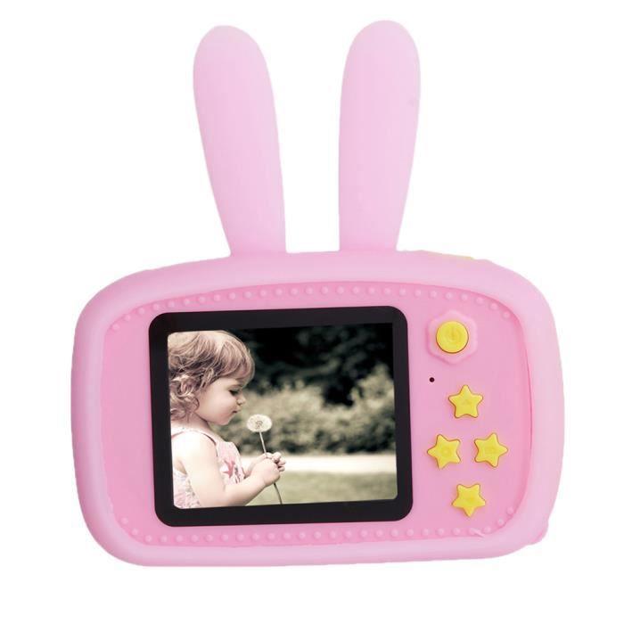 NEUFU Appareil Photo Numérique 1080P HD Antichoc pour Enfants - Enregistreur vidéo Écran 2 pouces Rose