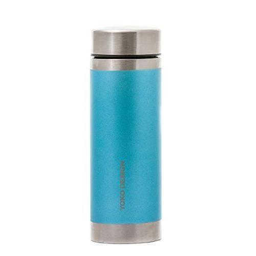 YOKO DESIGN Bouteille isotherme avec filtre à thé - Irisé bleu givré - 350 ml