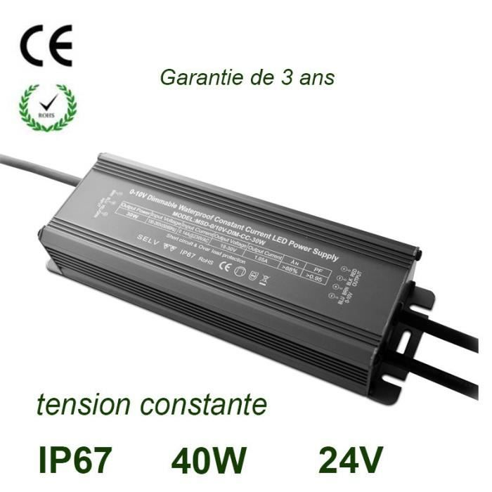40w 220v 24v ip67 transformateur led ce rohs lectronique led source power supply achat - Transformateur 220v 24v alternatif ...