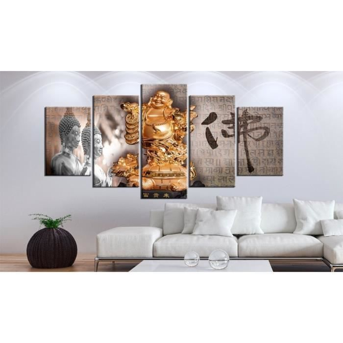 toile imprim e hd bouddha 200x100cm achat vente tableau toile cdiscount. Black Bedroom Furniture Sets. Home Design Ideas