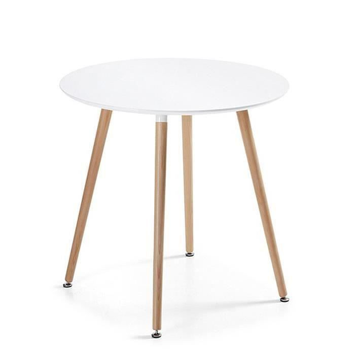 Table manger ronde design blanche 80cm alta achat - Model de table a manger en bois ...