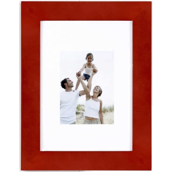 CADRE PHOTO Cadre photo Optimo rouge 13x18 cm - Ceanothe, marq