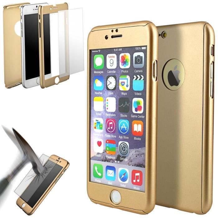 coque 360deg full protection iphone 6 6s gold