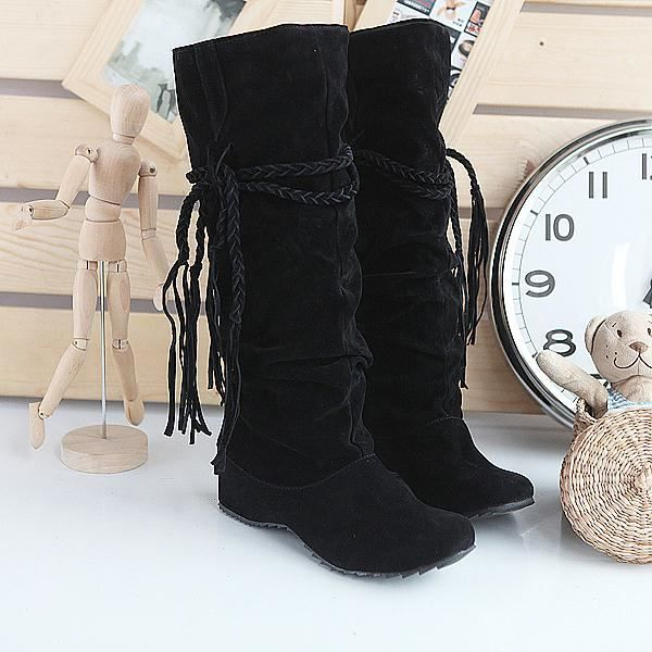 bottes bottines plates chaussures femme bpf9 noir achat vente bottes bottines plates chau. Black Bedroom Furniture Sets. Home Design Ideas