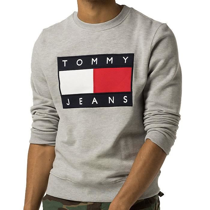pull sweat shirt tommy hilfiger homme dmodm01567 gris gris gris achat vente sweatshirt. Black Bedroom Furniture Sets. Home Design Ideas