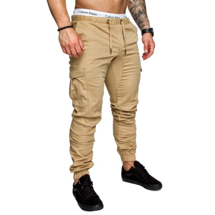 Pantalon Homme Casual Cargo Chino Jeans Jogging