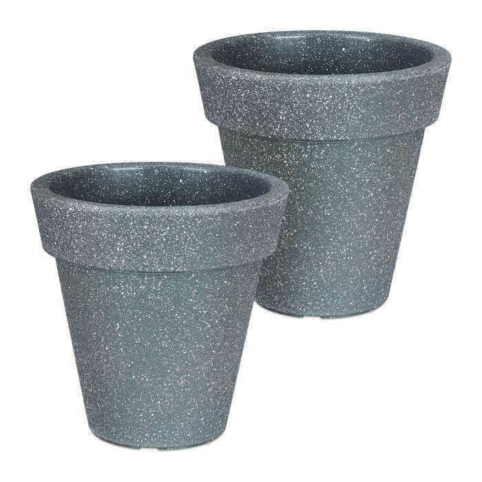 5 Petites Couleur Plastique Plante Pots de Fleurs Support JARDINIERE Plante Intérieur Extérieur