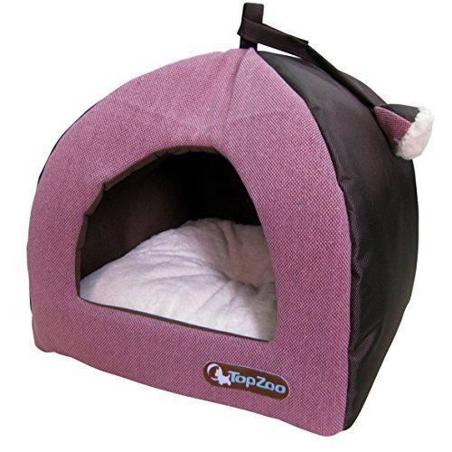 topzoo couchage tipi pour chat canevas rose achat. Black Bedroom Furniture Sets. Home Design Ideas