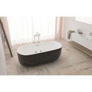 BAIGNOIRE - KIT BALNEO Baignoire hydromassante - 170x80x58cm - Design bic