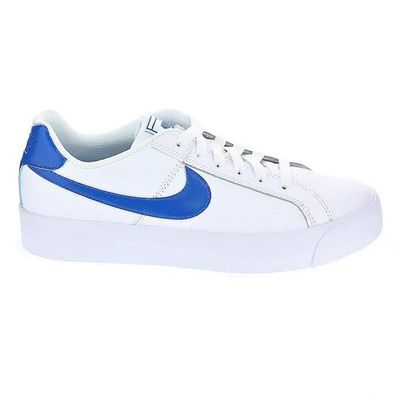 Femme Blanc Baskets Nike Basses Court Royale wXrXIq