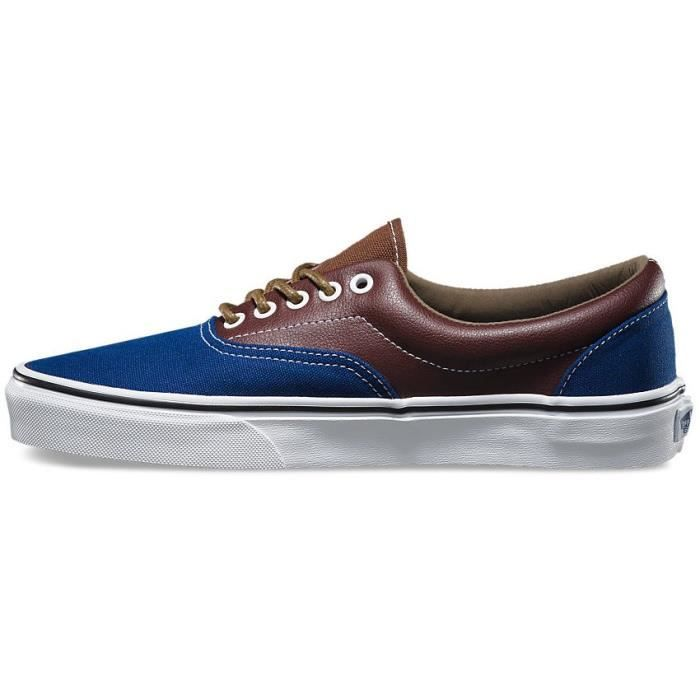 Basket VANS ERA Leather Plaid Estate blue Potting Soil