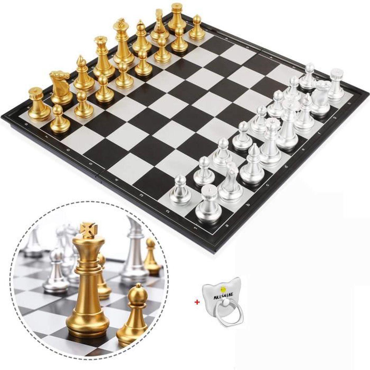JEU SOCIÉTÉ - PLATEAU  Jeu d'échecs Magnétique Plateau Jeux D'échecs de