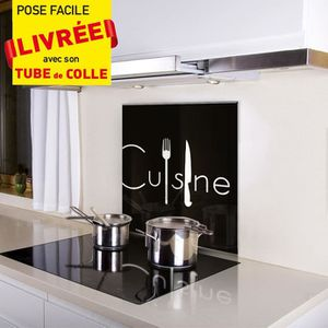 plaque credence cuisine achat vente plaque credence cuisine pas cher cdiscount. Black Bedroom Furniture Sets. Home Design Ideas