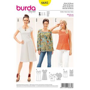 0bad3741bff PATRON - TUTORIEL Patron Burda 6685 Robe et blouse