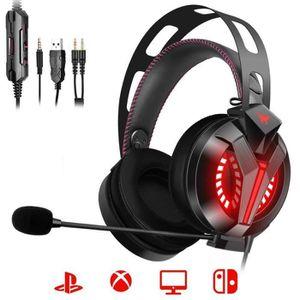CASQUE AVEC MICROPHONE ILF® Casque Gaming pour PS4 Xbox One Casque Gamer