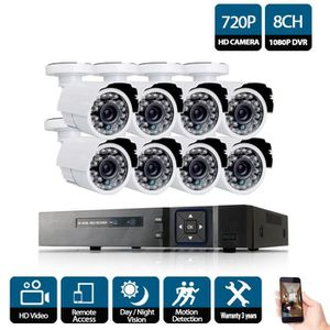 CAMÉRA DE SURVEILLANCE 8CH DVR 720 P HDMI Système de vidéosurveillance En