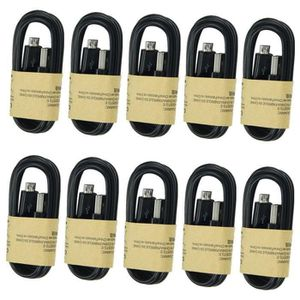 AUTRE PERIPHERIQUE USB  Noir 10pcs Câble Micro USB Cable Chargeur Smartpho