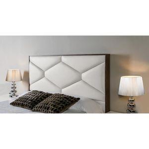 TÊTE DE LIT Tête de lit pour lit 160cm en simili-cuir beige ED