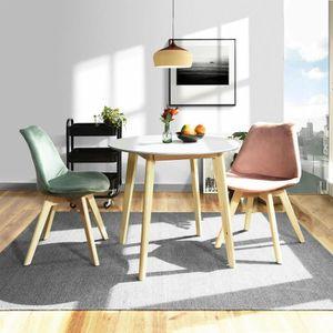 TABLE À MANGER SEULE HOMY CASA Table à manger ronde scandinave blanche