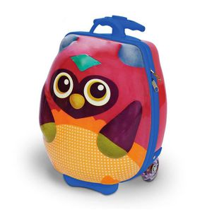 VALISE - BAGAGE Happy trolley - Hibou - valise trolley 3D Multicol