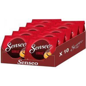 CAFÉ SENSEO corsé lot de 10 paquets de 18 soit 180 dose