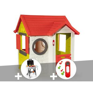 MAISONNETTE EXTÉRIEURE Cabane enfant My House - Smoby + Plancha + Sonnett