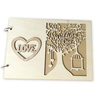 Livre D Or Mariage Bois Champetre Coeur Mr Mrs Love Decoration Mariage Champetre Diy Conception Jm01461