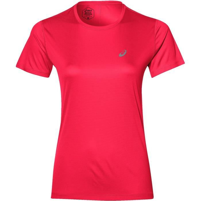 ASICS T-shirt de running Top Silver - Femme - Rose