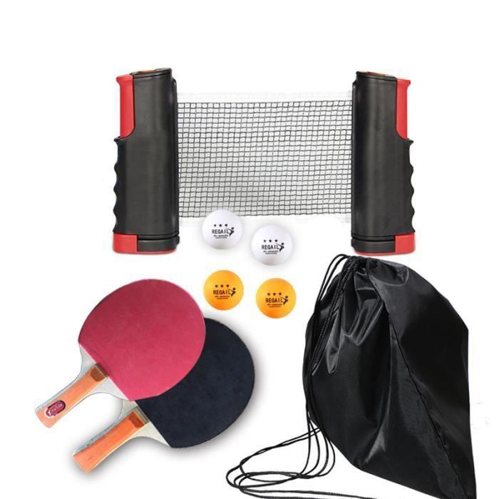 Ensemble de Tennis de Table Portable 1.9M support de filet télescopique 1 paire de Tennis de Table Paddle ping-pong accessoires d'en
