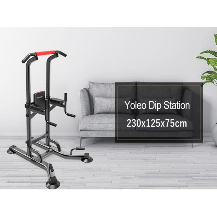 NEUF Chaise Romaine Barre de Traction Musculation Station Traction Dips pour l'entraînement à la Maison