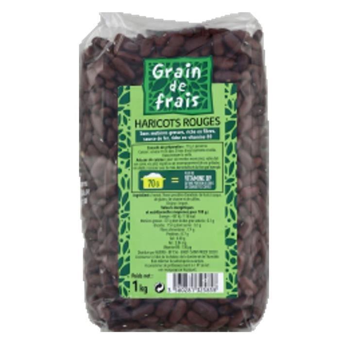 Haricot rouge - Grain de Frais - paquet 1kg